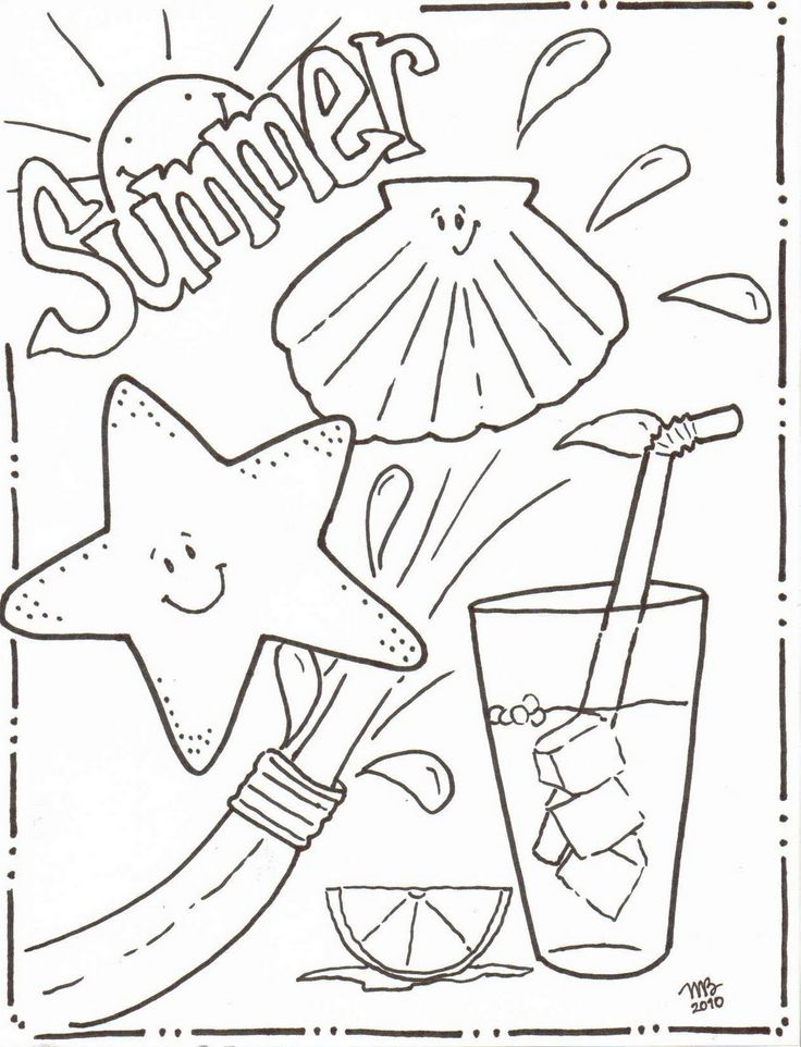 736x962 Printable Coloring Pages For Girls Summer Vacation Colouring