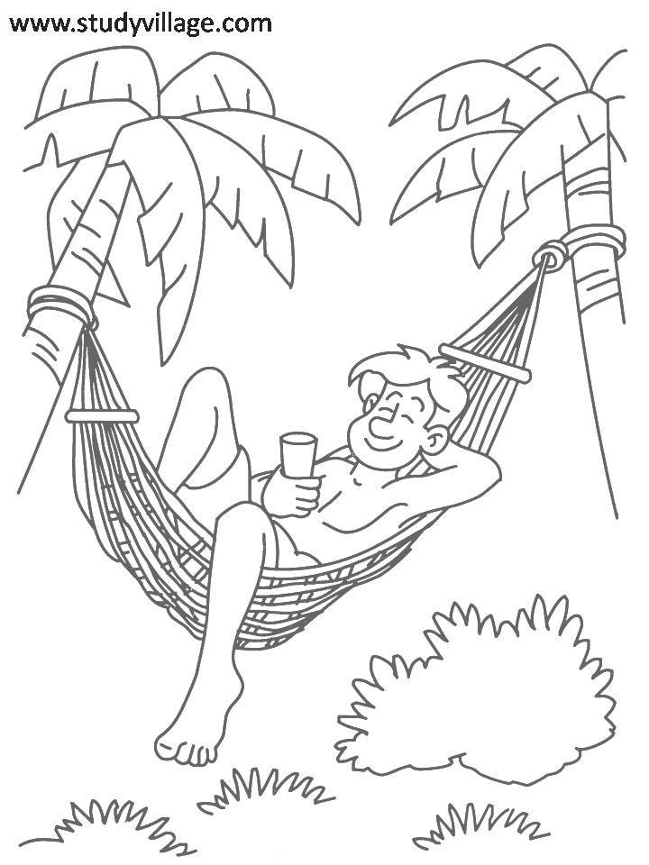720x960 Summer Holidays Printable Coloring Page For Kids 2