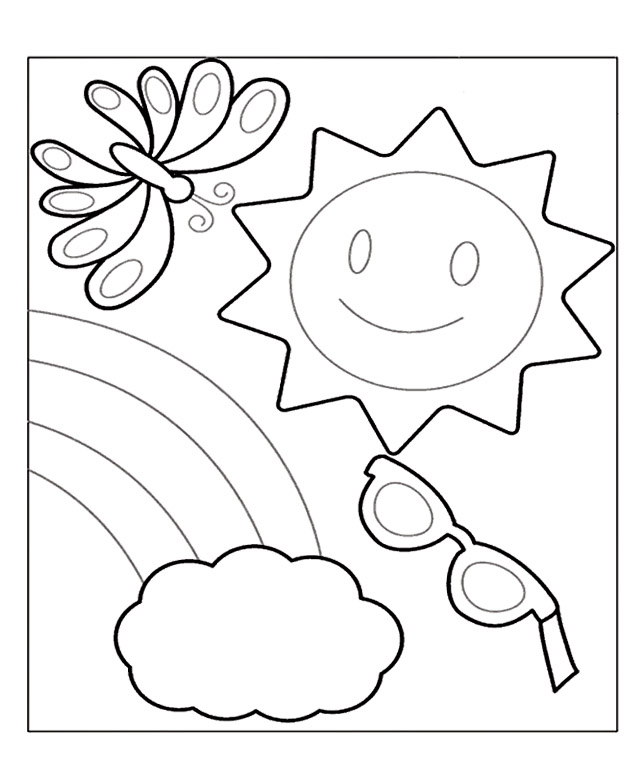 641x781 Coloring Pages Summer Coloring Pages And Book