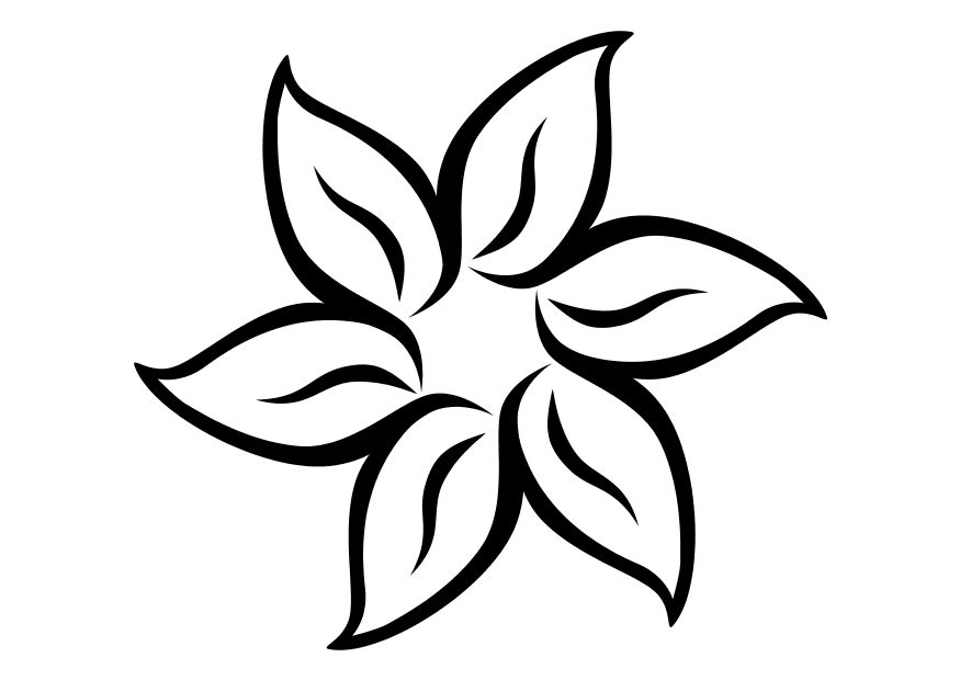 875x620 Summer Flower Coloring Pages
