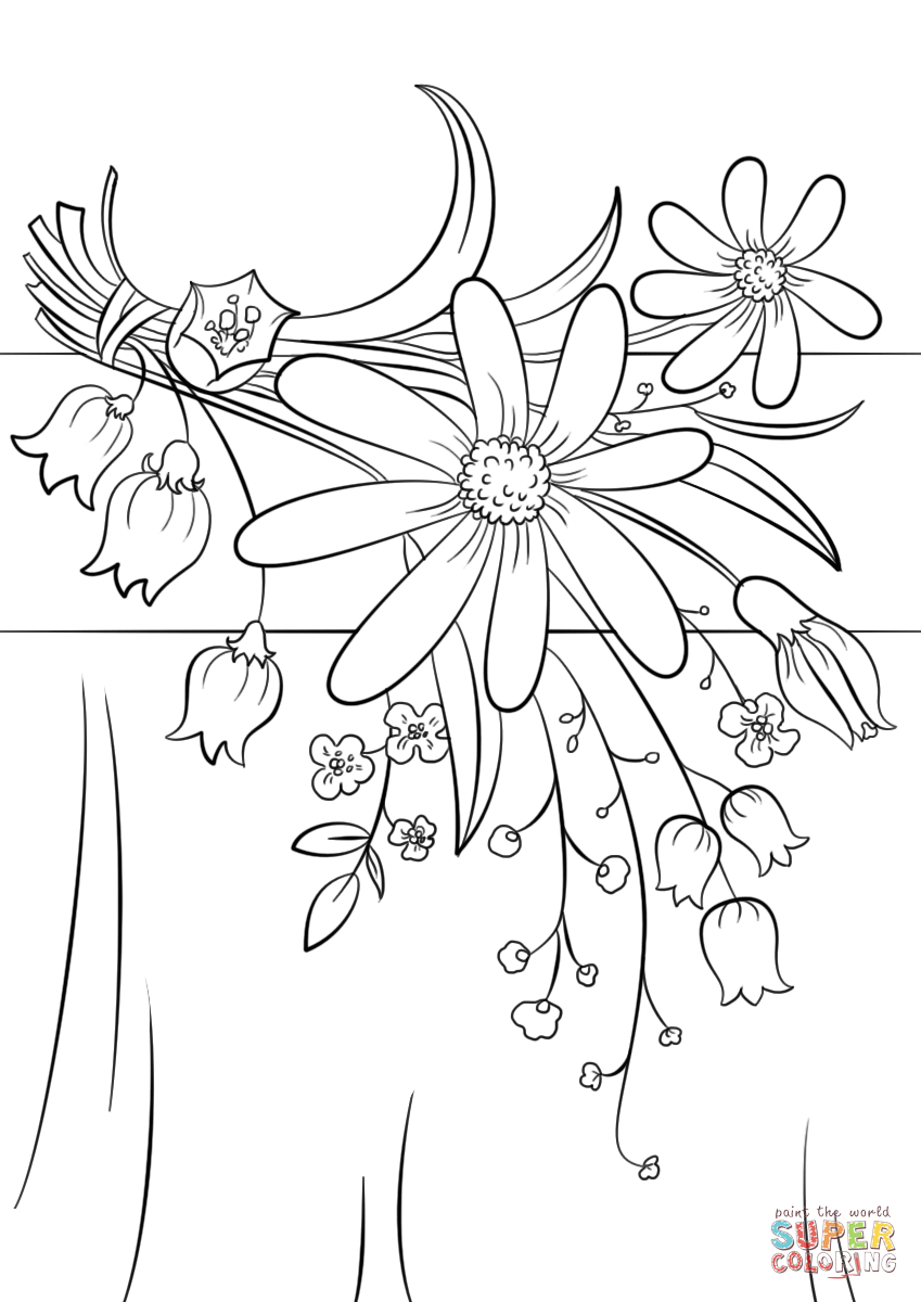 849x1200 Summer Flowers Coloring Page Free Printable Coloring Pages