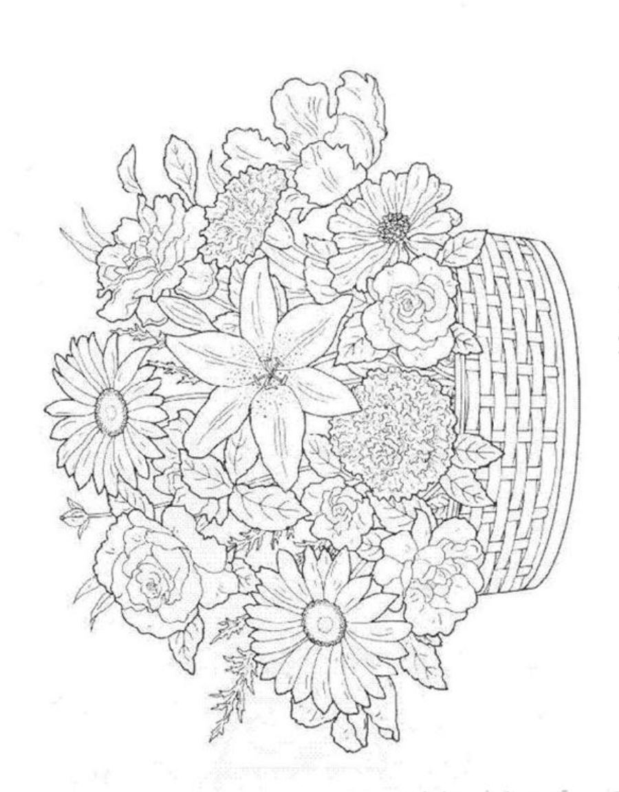 900x1151 Summer Flowers Printable Coloring Pages Kids