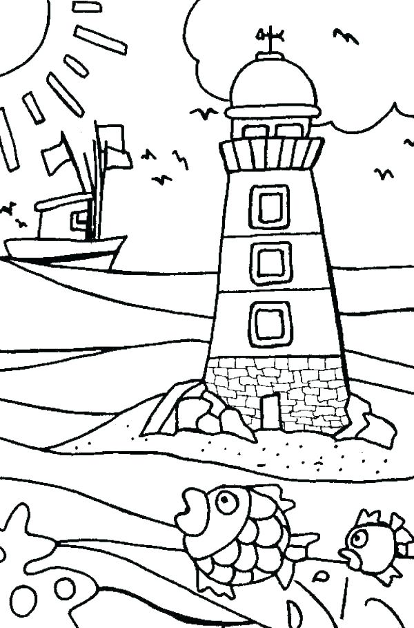 600x909 Printable Summer Coloring Pages For Adults Beach Page