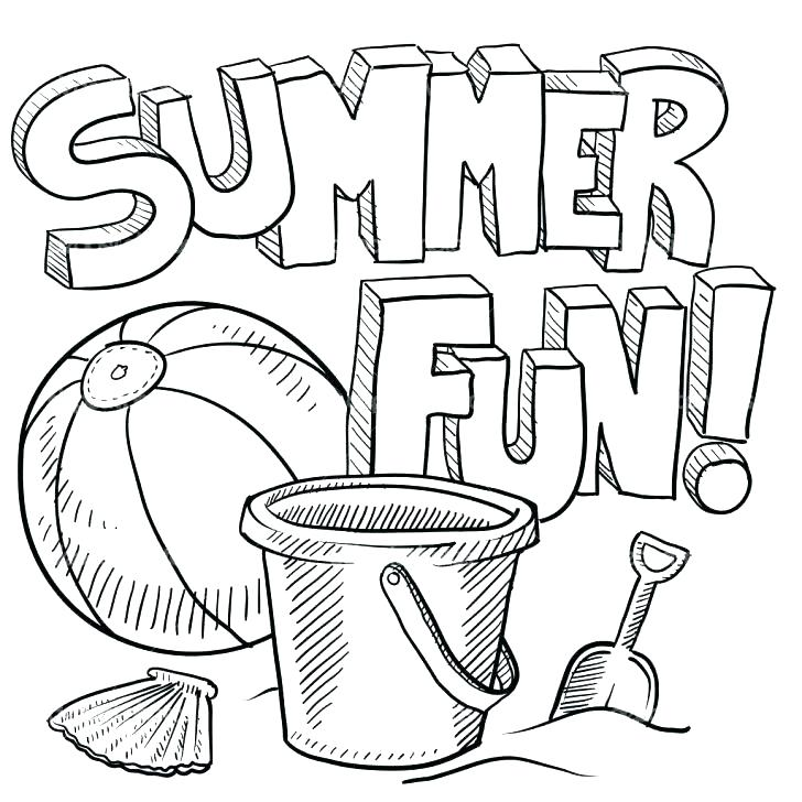 728x728 Summer Coloring Pages For Kindergarten A Beach Scene Coloring Page