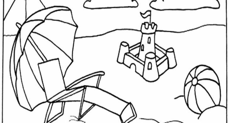 728x393 Summer Scene Coloring Pages Beach Scene Coloring Pages Classic