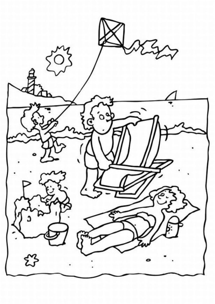 849x1202 Summer Scene Coloring Sheets Coloring Pages Summer Coloring