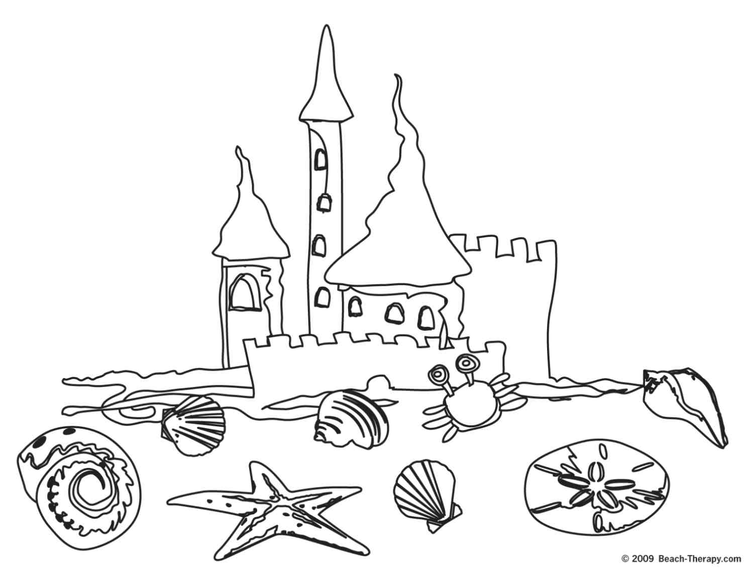 summer scene coloring pages - photo#13