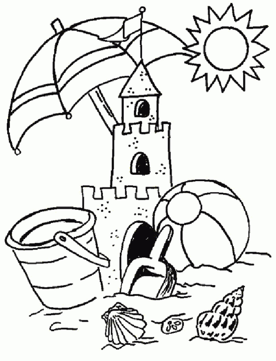 900x1178 Summer Scene Coloring Sheets Summer Coloring Pages