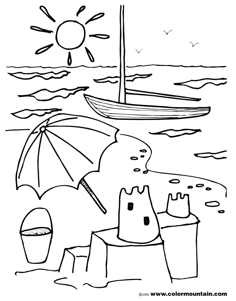972x1239 Coloring Picnic Coloring Page Summer Scene Sheets Pages Beach