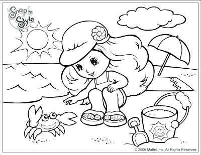 400x309 Coloring Page Beach Beach Coloring Pages Beach Scene For Coloring