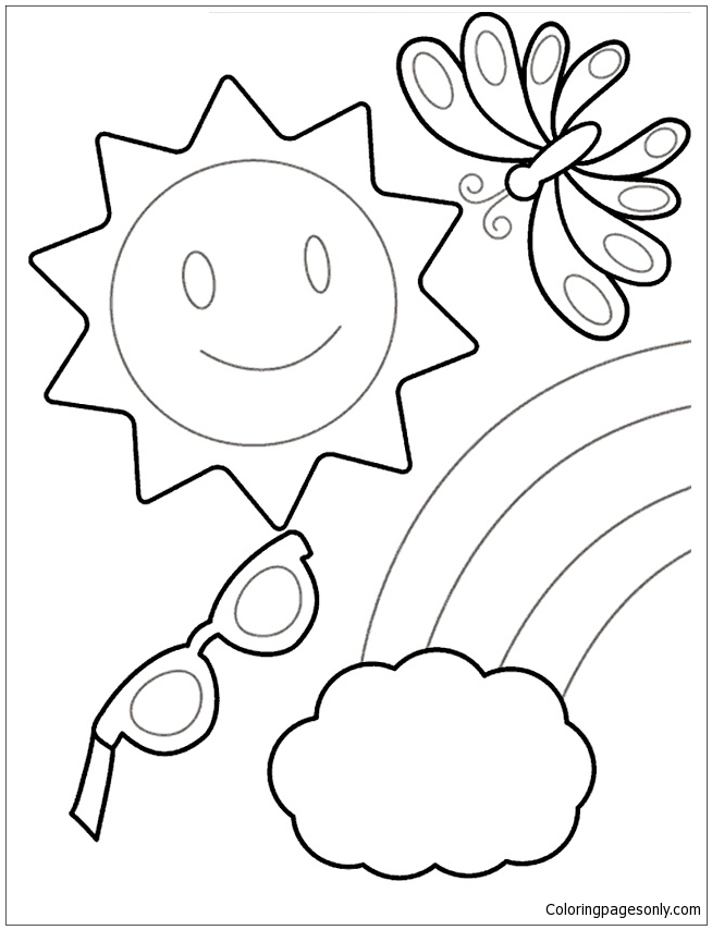 654x854 Coloring Pages Happy Summer
