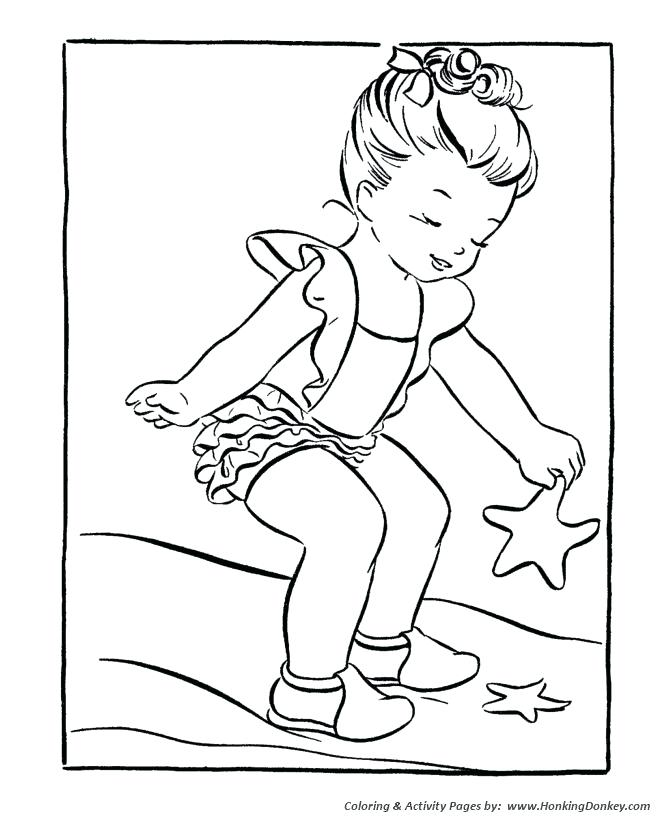 670x820 Seasons Coloring Page Summer Season Coloring Page Starfish On