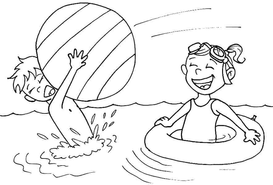 885x600 Summer Coloring Pages For Preschool