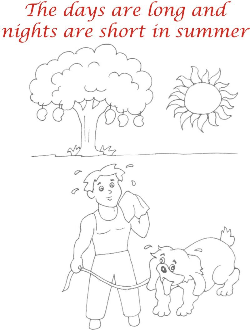 800x1058 Summer Season Coloring Printable Page3 For Kids