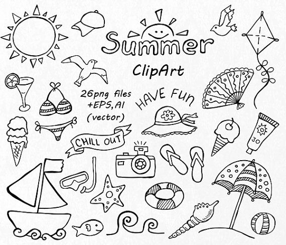 570x488 Summer Season Clipart Black And White 3 Clipart Station