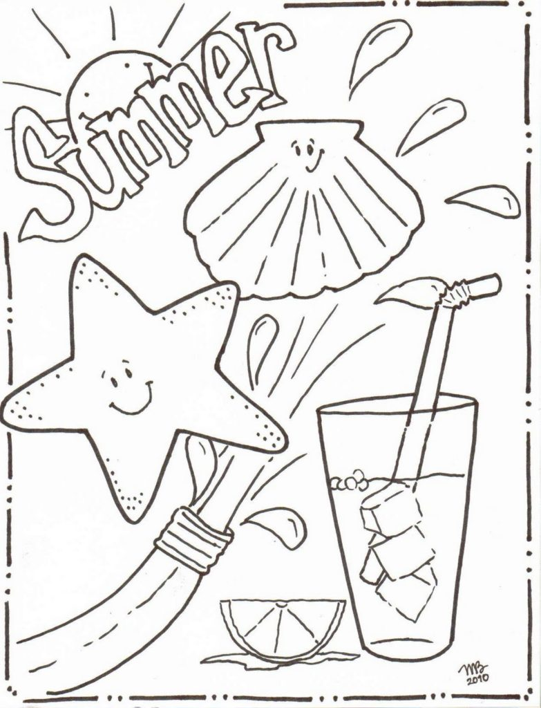 783x1024 Coloring Pages Summer Coloring Pages Getcoloringpages Summer
