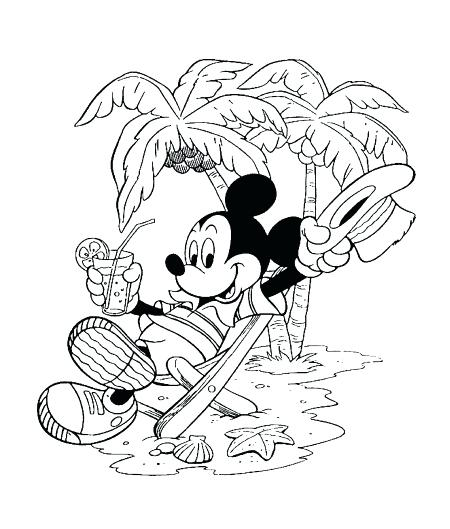 450x529 Coloring Pages Summer Summer Vacation Printable Coloring Pages
