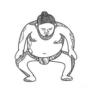 300x300 Sumo Wrestler Art