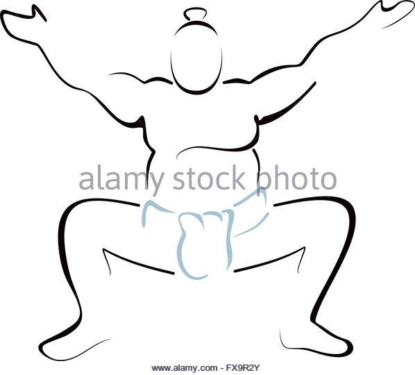 598x540 Sumo Wrestling Drawing Sumo Art