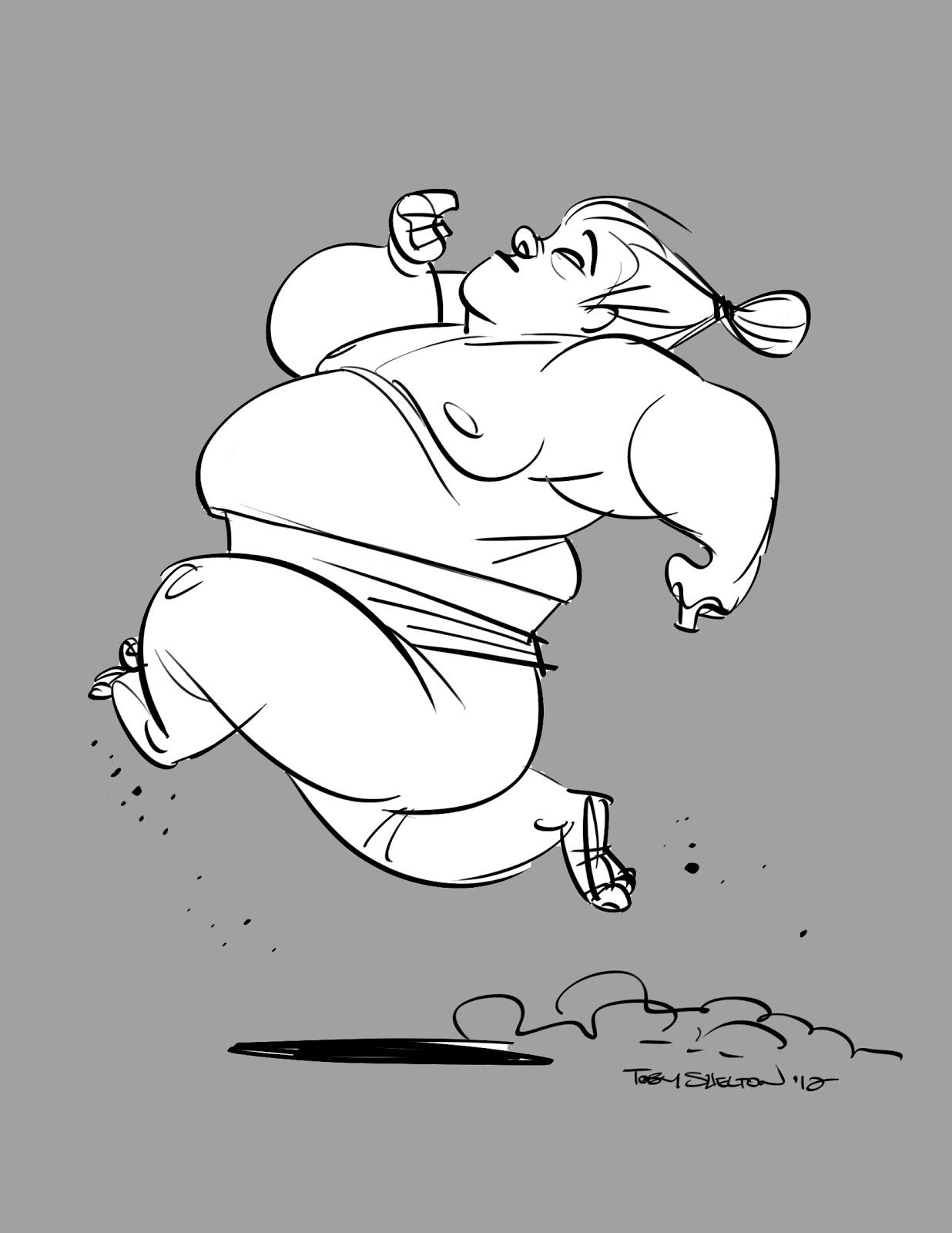1236x1600 The Animation Woodpile Sumo Wrestler (Walk, Run)