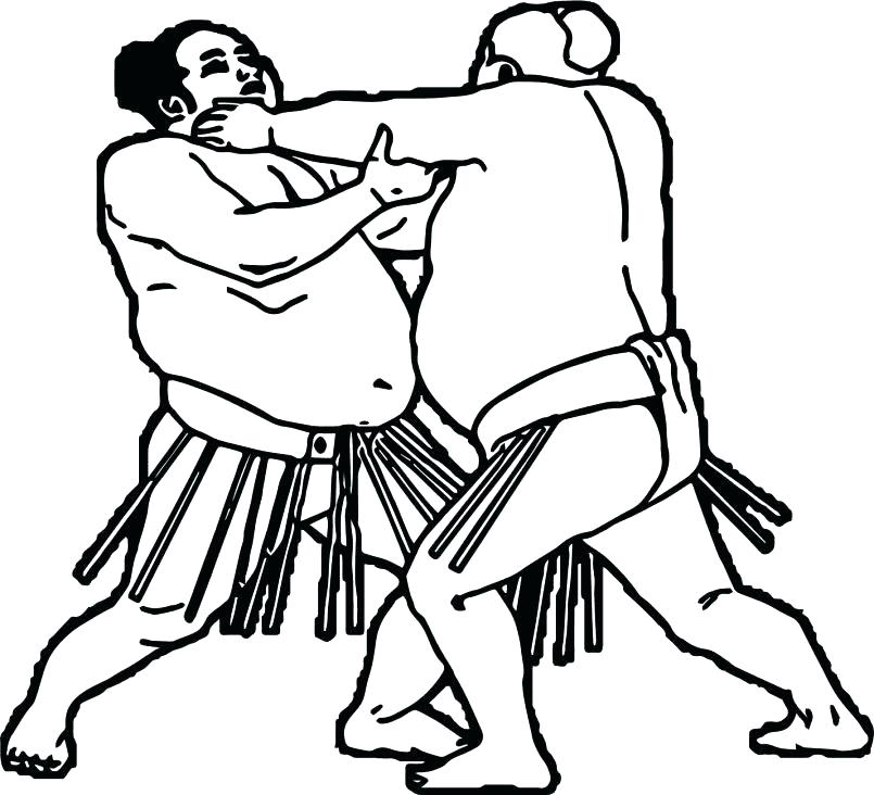 805x732 Wrestler Coloring Pages Free Coloring Page Of Wrestling Online