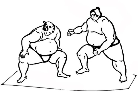 480x321 Wrestling Sumo Coloring Page Free Printable Coloring Pages