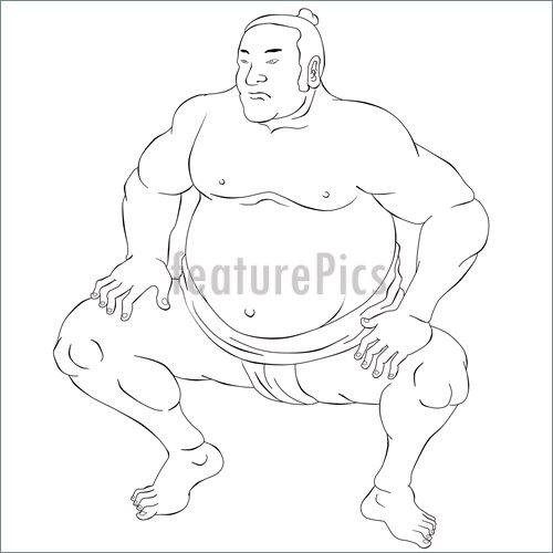 500x500 Illustration Of Japanese Sumo Wrestler