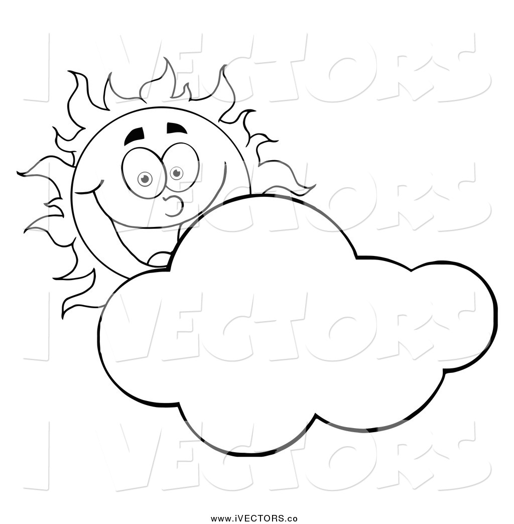 1024x1044 Sun And Clouds Black And White Clipart