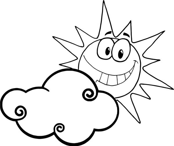Sun And Clouds Drawing...