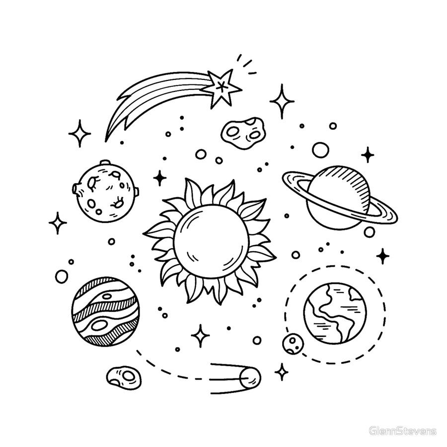900x900 Space Tumblr Drawing Clocks By Glennstevens Redbubble