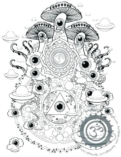 400x520 Trippy Coloring Pages Coloring Pages Girl With Tattoo A Trippy Sun