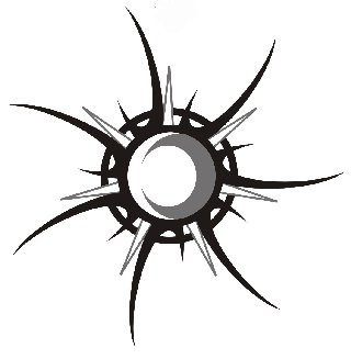 320x327 Cool Tribal Star Amp Sun Amp Moon Tattoo Design Skeches