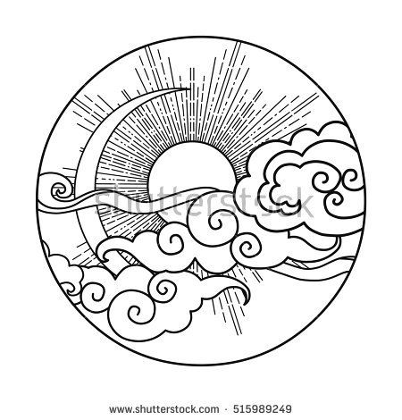 450x470 Image Result For Sun And Moon Doodles Coloring Pages
