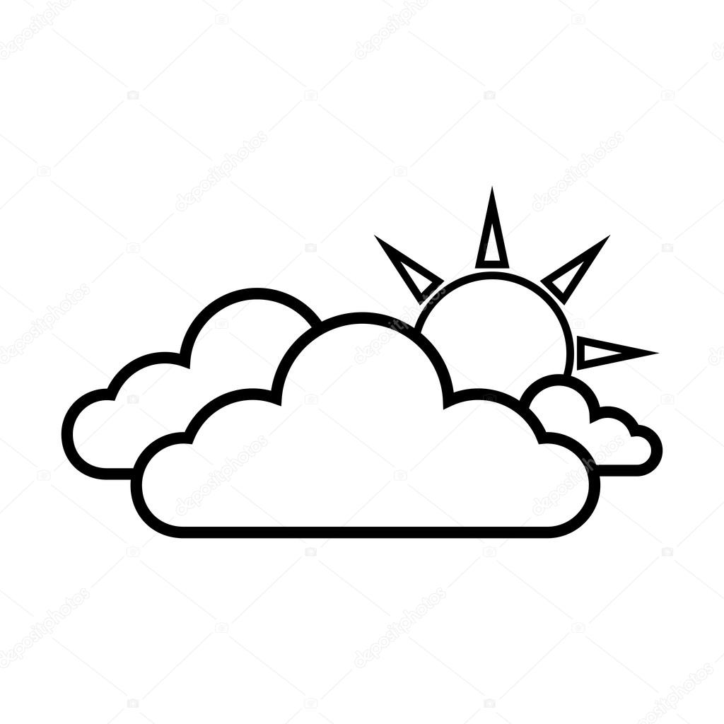1024x1024 Cloud Sun Weather Sky Stock Vector Yupiramos