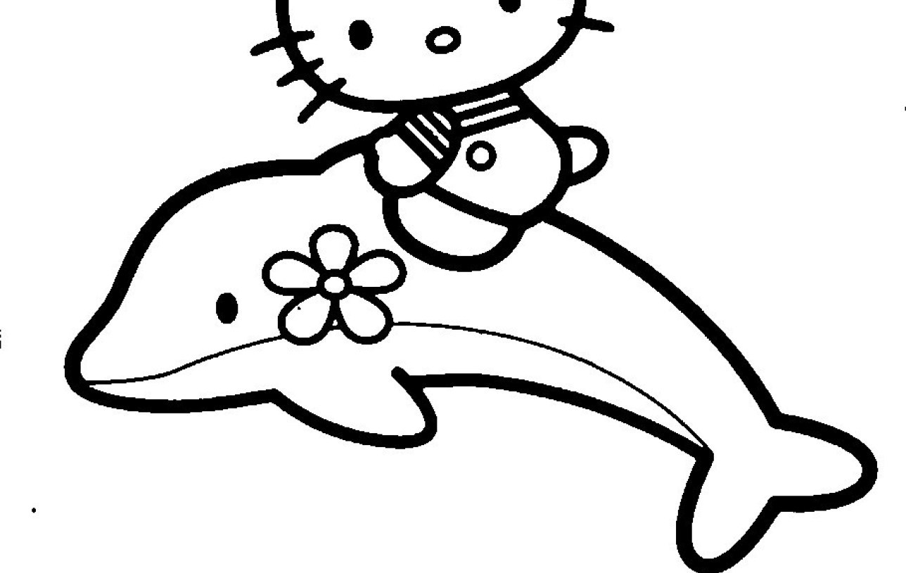 1288x815 Sticker Hello Kitty Coloring Book To Print Dolphin Flower