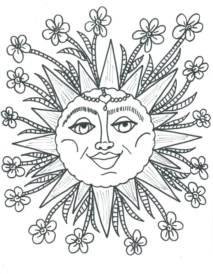 736x947 Best Of Sun Coloring Pages Images A Funky Summer Sun On The Beach