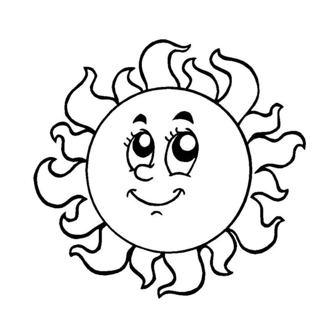 Sun Cartoon Drawing