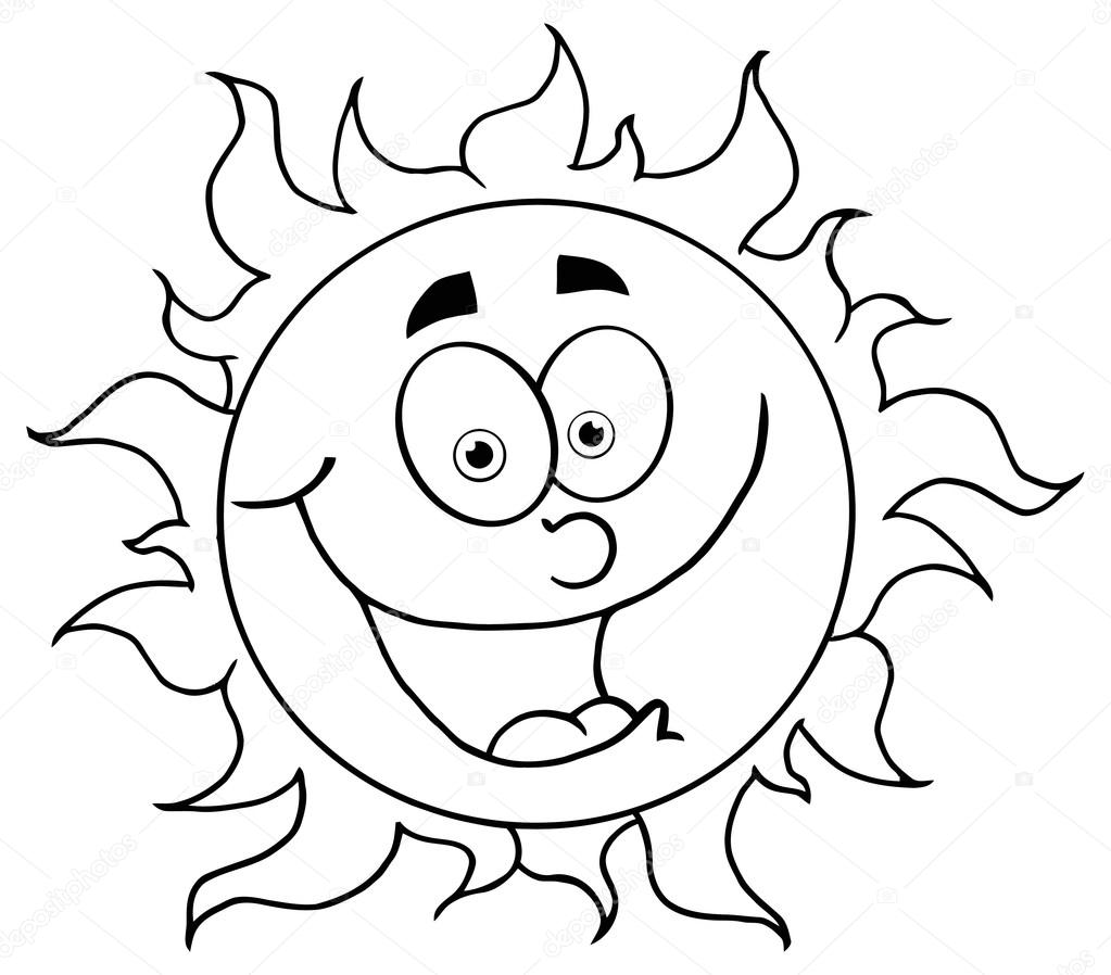 1023x898 Smiling Sun Cartoon Character. Stock Vector Hittoon