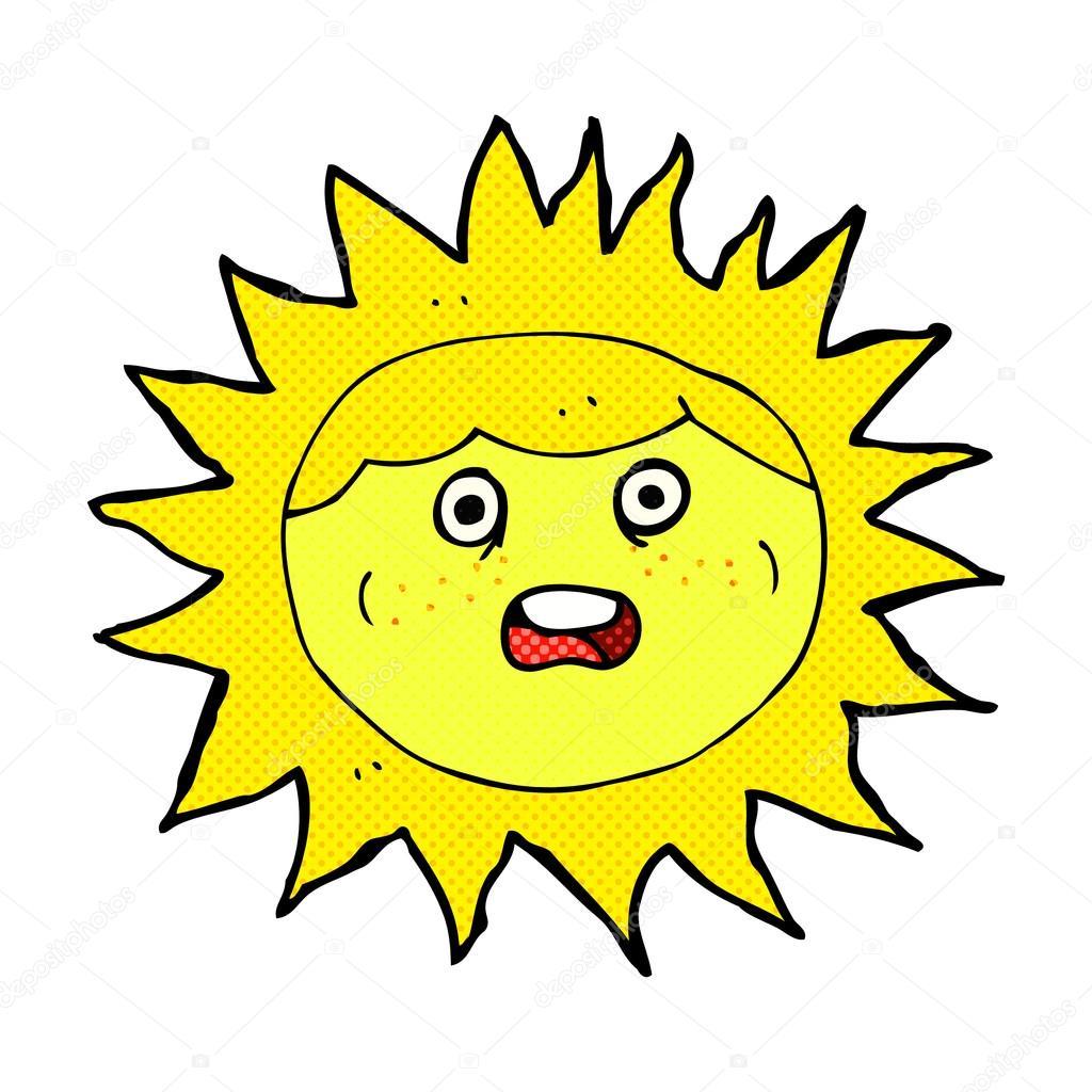 1024x1024 Sun Comic Cartoon Character Stock Vector Lineartestpilot