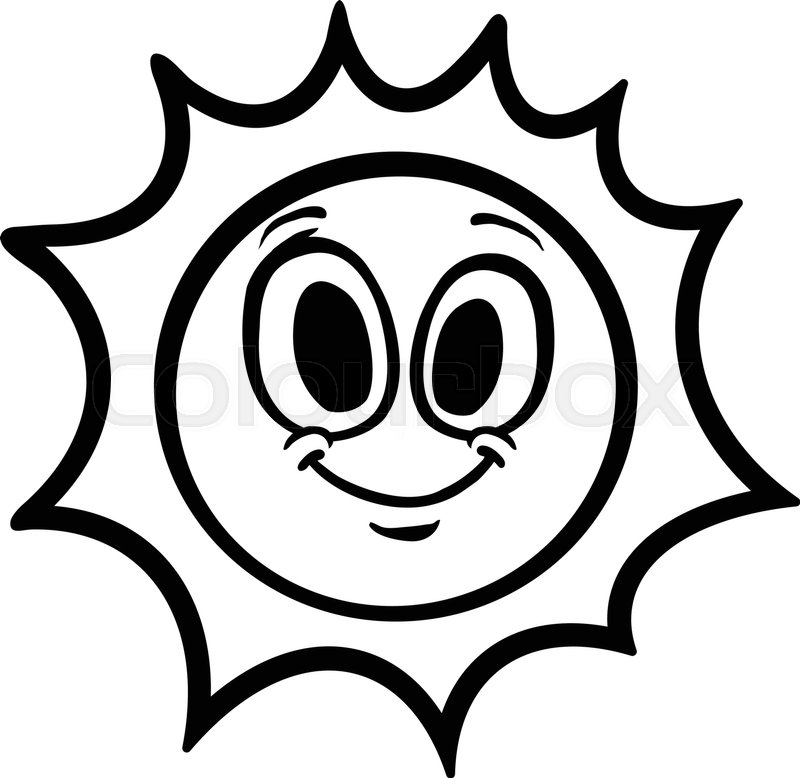 800x778 Cartoon Sun Stock Vector Colourbox