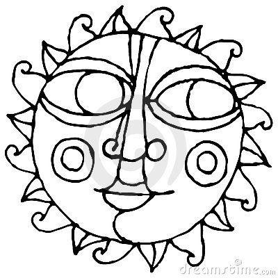 400x400 Sun Drawing Clipart