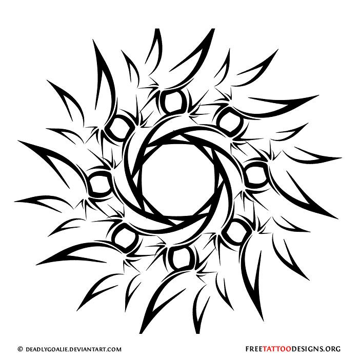 700x700 Collection Of Sun Line Tattoo Drawing