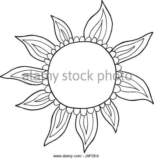 522x540 Drawn Sun Black And White Stock Photos Amp Images