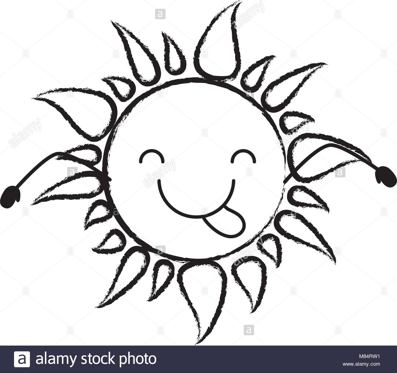 1300x1224 Summer Sun Cartoon Black And White Stock Photos Amp Images