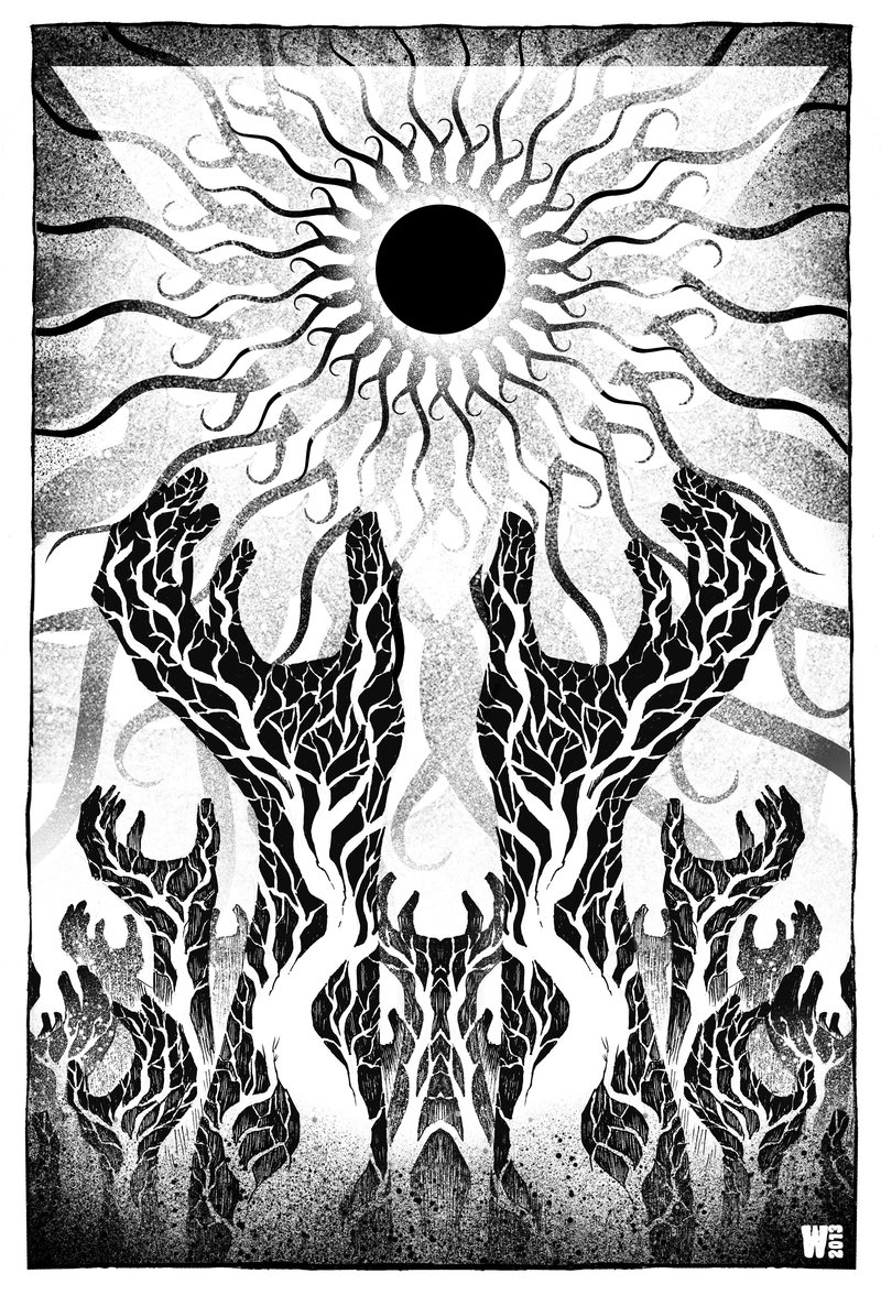 800x1186 A Sun That Never Sets Black And White By W Orks