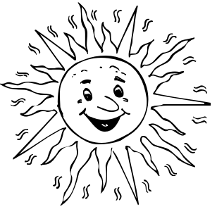 308x304 Sun Clipart Black And White 6 Clipartion Com