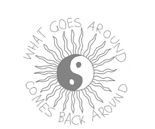 500x416 Drawing Black And White Quotes Hippie Hipster Grunge Sun Peace
