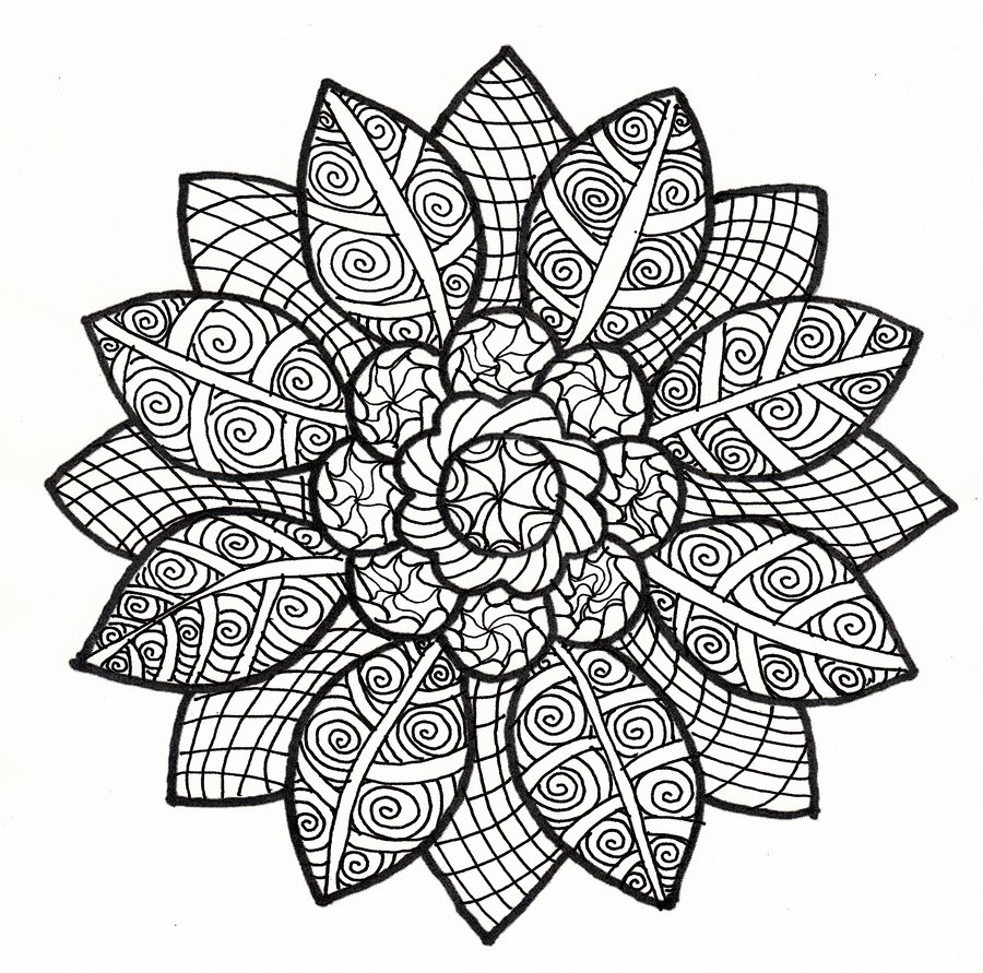 900x891 Sun Petal Collab Black And White Version By Crazyruthie
