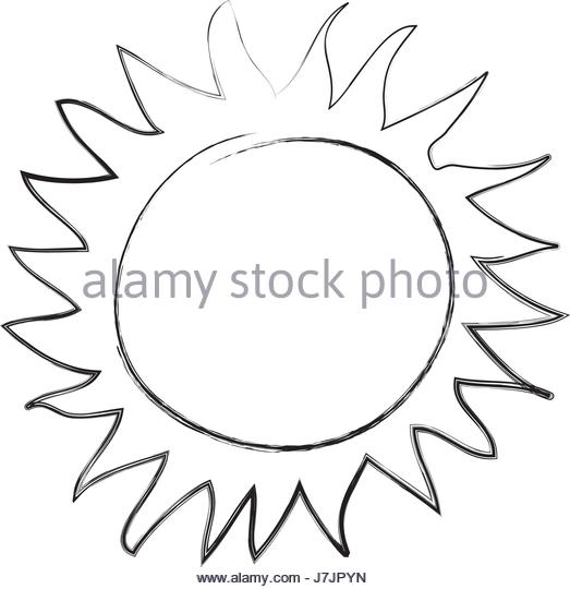 523x540 Summer Sun Cartoon Black And White Stock Photos Amp Images