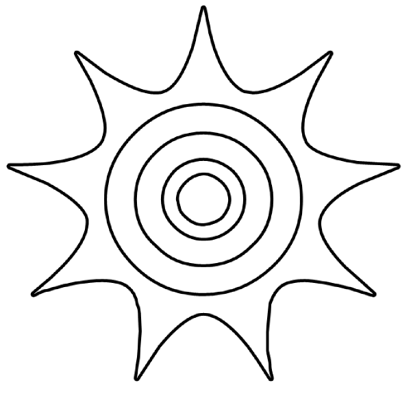 600x581 Sun Drawing Clipart